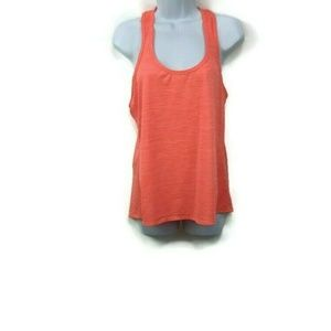 Athleta  Tank Size Large Orange  Striped Racerback